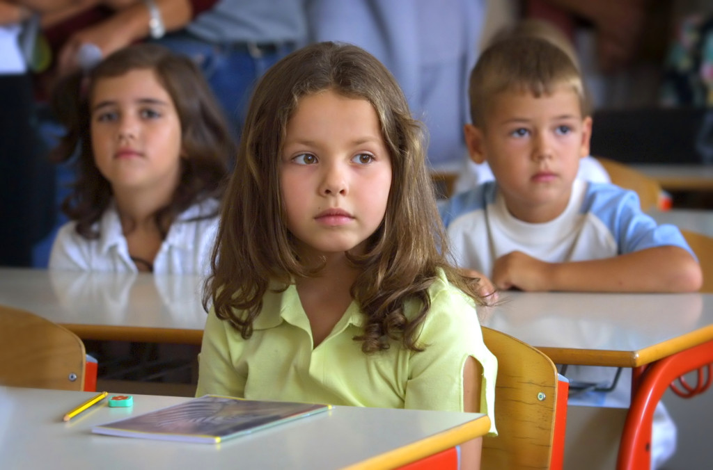 Girl in a classroom